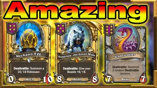 Hearthstone Battlegrounds: Triple Goldrinn, Mechano-Egg, Double Ghastcoiler With Baron Rivendare