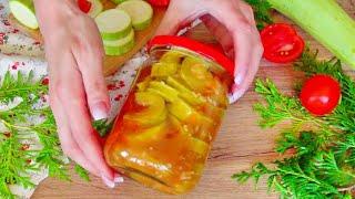 Зимой открыли баночку и АХНУЛИ как ВКУСНО! Самый вкусный Салат из КАБАЧКОВ на Зиму Рецепт от 8 ЛОЖЕК