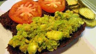 Vegetarian Avocado & ChickPea & Feta Salad Sandwich Recipe