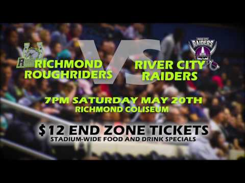 River City Raiders vs. Richmond Roughriders (Sat .20 @ Richmond Coliseum)