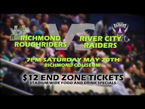 River City Raiders vs. Richmond Roughriders (Sat .20 @ Richmond Coliseum)