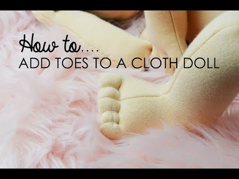 How To Create Doll Toes On Cloth Dolls Tutorial