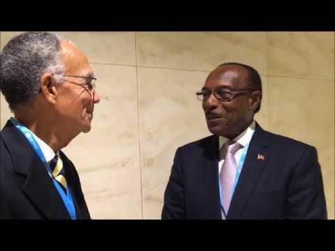 HCC President & Molwyn Joseph, Hon. Minister of Health & Environment,  Antigua & Barbuda
