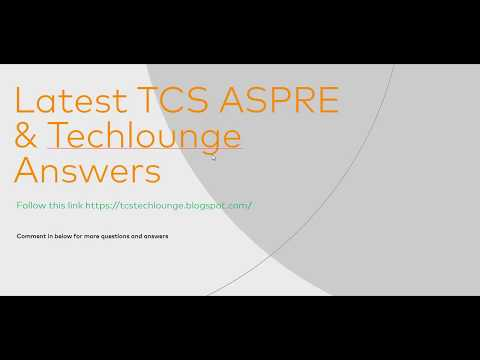 tcs aspire problem solving techniques quiz