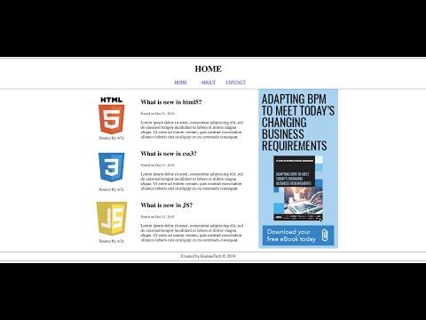 Simple HTML5 web page, HTML tutorial in Urdu/Hindi thumbnail