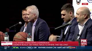 Press Conference - Andrew Bogut Sydney Kings Announcement