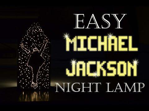 How to make Easy MICHAEL JACKSON Night Lamp