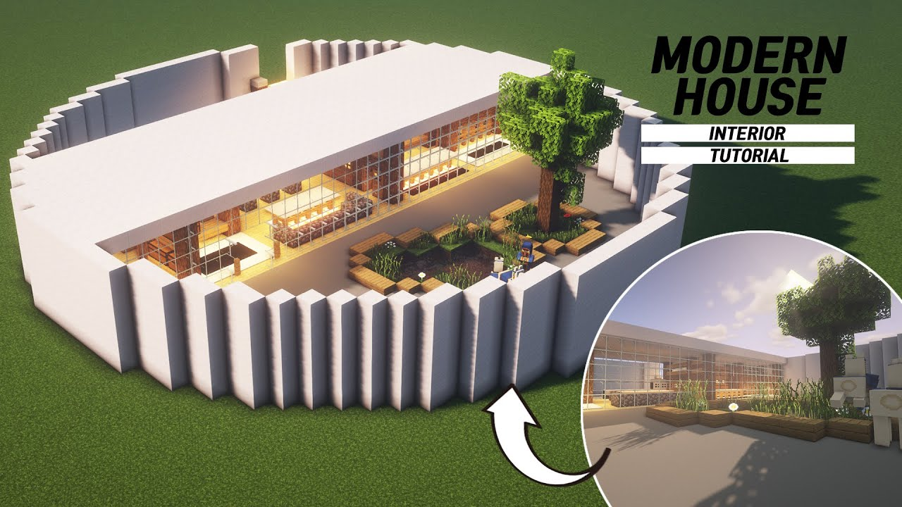 Minecraft Modern House Interior Tutorial How To Build In Minecraft 65 Youtube