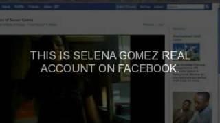 Selena Gomez Real Account on Facebook