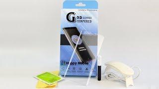УСТАНОВКА и ОБЗОР Стекло Full Liquid Glass Glue Samsung S9 S8 Plus Note 8 Review Installation