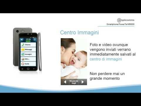 PowerTel M9500 Smartphone facile Anziani