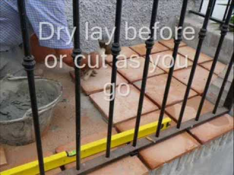 Laying Terracotta Tiles Outside, How To Lay Terracotta Tiles,   YouTube