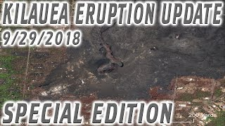 NEWS UPDATE Arial Photos Hawaii Kilauea Volcano Eruption Special Edition Report for 9/29/2018