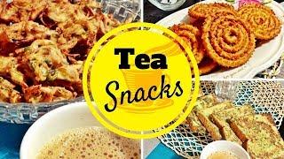 Tea Snacks / Onion Pakora, Spicy Bread Toast , Murukku or Chakli