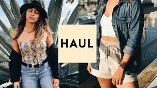 TRY ON CLOTHING HAUL 2019! TRENDY + CUTE    Nastazsa