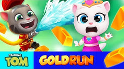 Fireman Tom vs. Princess Angela ??️?  ALL Worlds in Talking Tom Gold Run (Gameplay)