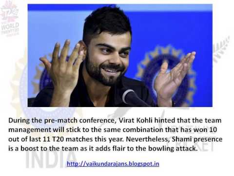 Thumbnail for Vaikundarajan Predicts India's Win Against New Zealand In ICC World Cup T20