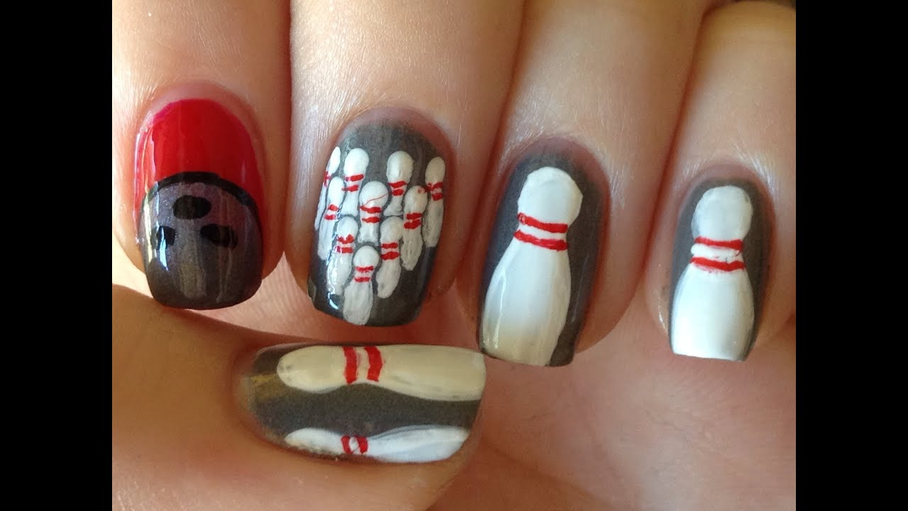 Bowling nail art tutorial youtube prinsesfo Images