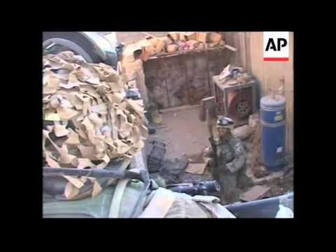 Marines battle with insurgents in Fallujah