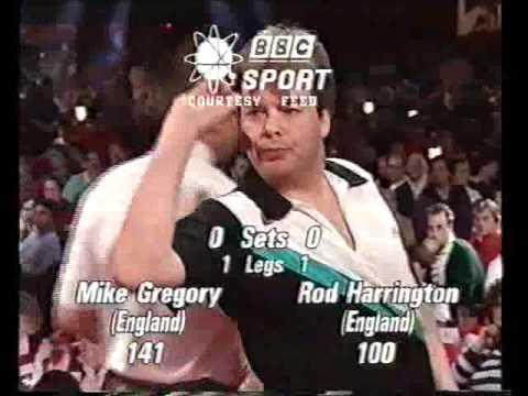 Darts World Championship 1992 Quarter Final Gregory vs Harrington