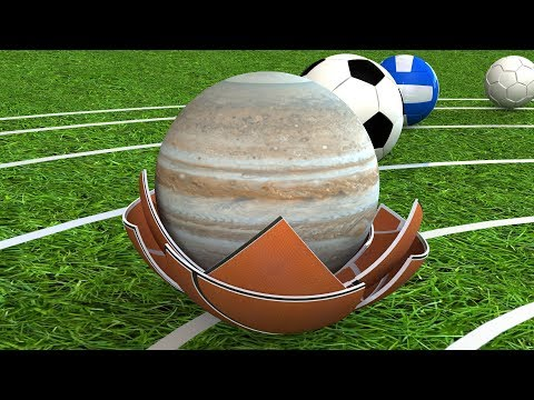 Comparison Planets of the Solar System with Sport Balls Part 2