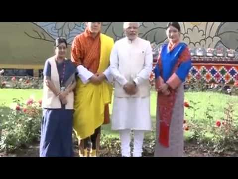 PM Narendra Modi meets Bhutan King Wangchuck