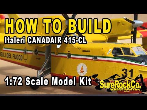 Full Build Italeri CANADAIR 415-CL 1:72 Scale Model Aircraft Kit