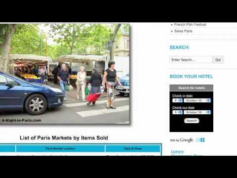Paris Markets With A-Night-in-Paris.com