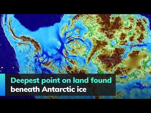 Deepest point on land found beneath Antarctic ice The deepest point of land on Earth has just been discovered beneath Antarctic ice, under the Denman Glacier by researchers at the University of California., From YouTubeVideos