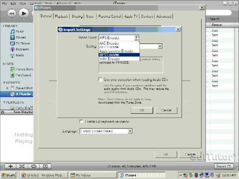 Ripping a CD with free Itunes to an mp3 file