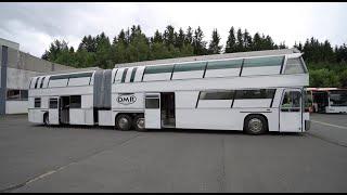 Das längste Wohnmobil dęr Welt: 18m x 2,55 x 4m x 12 Zyl. Zulassung, Dachterrasse. Made in Germany.