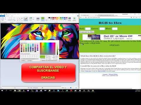 Como Convertir Un Color RGB A Hexadecimal