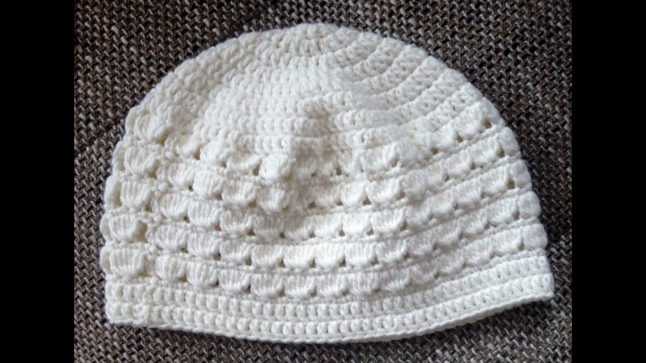 Crochet Hat For Girls 50 52cm Tutorial Shell Pattern By