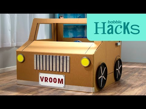 DIY Collapsible Cardboard Car | Babble Hacks | Babble