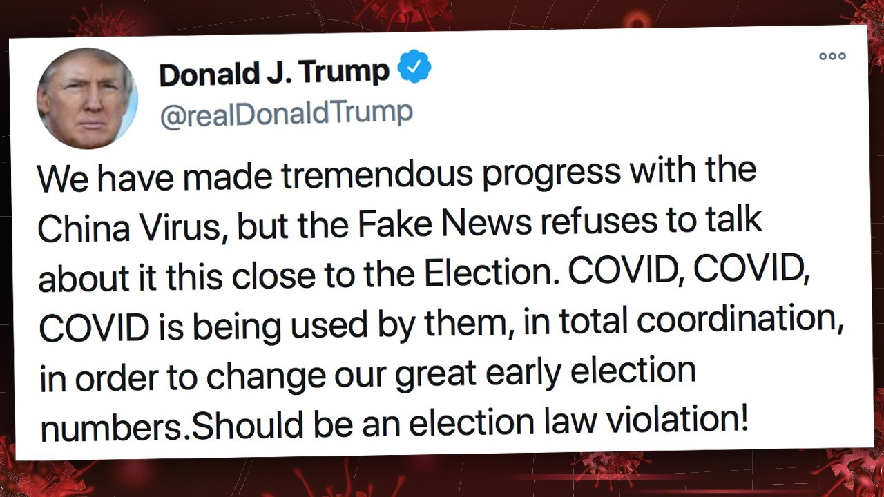 Trump Thinks It Should Be Illegal For Media To Talk About Pandemic
