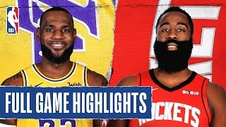 LAKERS at ROCKETS | FULL GAME HIGHLIGHTS | January 18, 2020