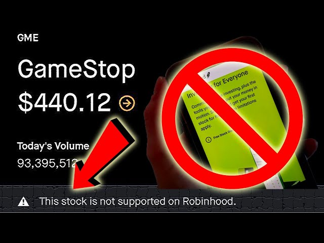 GAMESTOP Stock Trading BANNED BY ROBINHOOD, The Gloves Are Off - TO THE MOON WE GO!!!