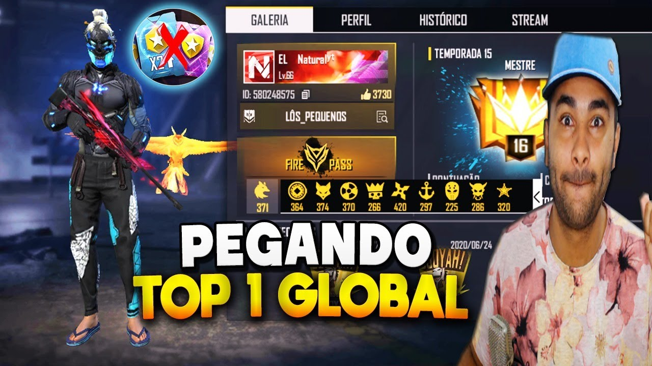 🔥 FREE FIRE AO VIVO 🔥 CONTA FUL GEMADA! RUMO AO TOP GLOBAL! SOLO RANKED 🔥 LIVE ON