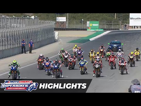 HONOS Superbike Race 1 Highlights at Laguna Seca 2020