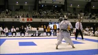 第27回関東防具付空手道選手権大会 吉田哲也vs河井伸久 2回戦第7試合 JKF Renbukai Karate