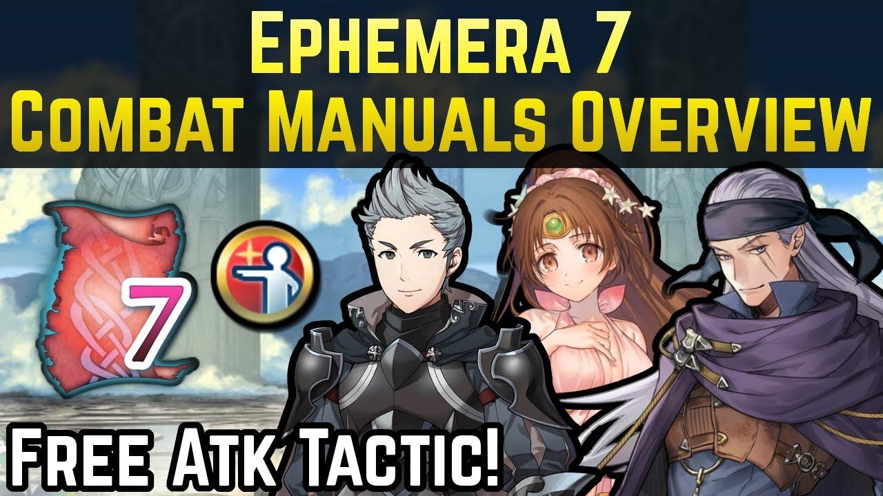 Ephemera 7 Combat Manuals Overview (Starfish+, Even Def Wave, Atk Tactic) | Fire Emblem Heroes Guide