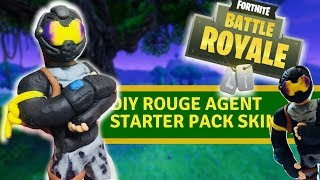 "DIY Rouge agent starter pack skin from ""fortnite"" - clay tutorial"