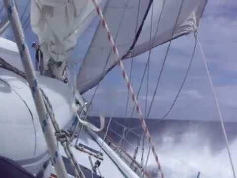 Caribbean Sailing Repo Trip SXM   Grenada Mar 2010 Rough weather Guadeloupe to St Lucia