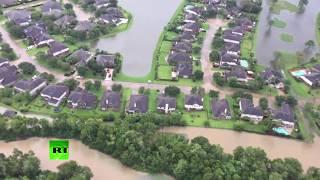 Aerial footage: Aftermath of devastating Houston floods