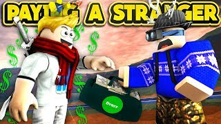 PAYING A STRANGER TO PLAY JAILBREAK WITH US! (ROBLOX Jailbreak)