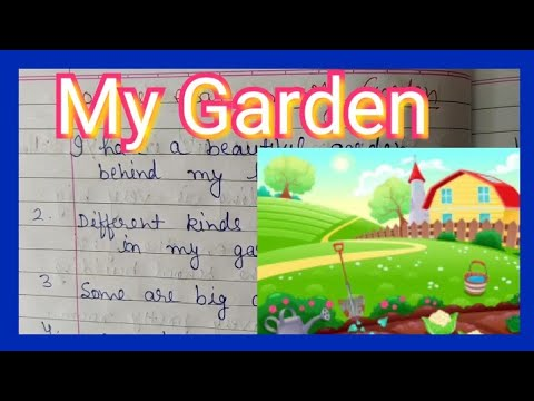 10 Lines On My Garden Very Easy Short Essay On My Garden For Kids Paragraph Youtube