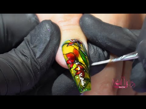 Stained Glass Nail Art | Translucent Gel | Anastasiia Morozova