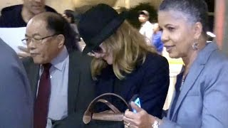 Rene Russo Is Camera Shy Arriving At LAX With Hubby Dan Gilroy