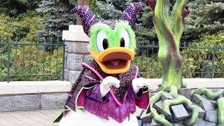 Maleficent Donald Duck Show Highlights and Meet & Greet at Disneyland Paris Halloween Festival 2018
