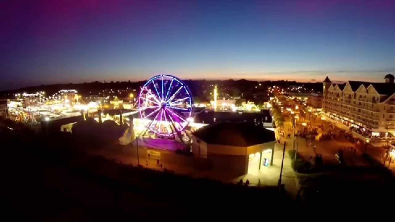 Dji Phantom 2 >> Old Orchard Beach Palace Playland at night - YouTube